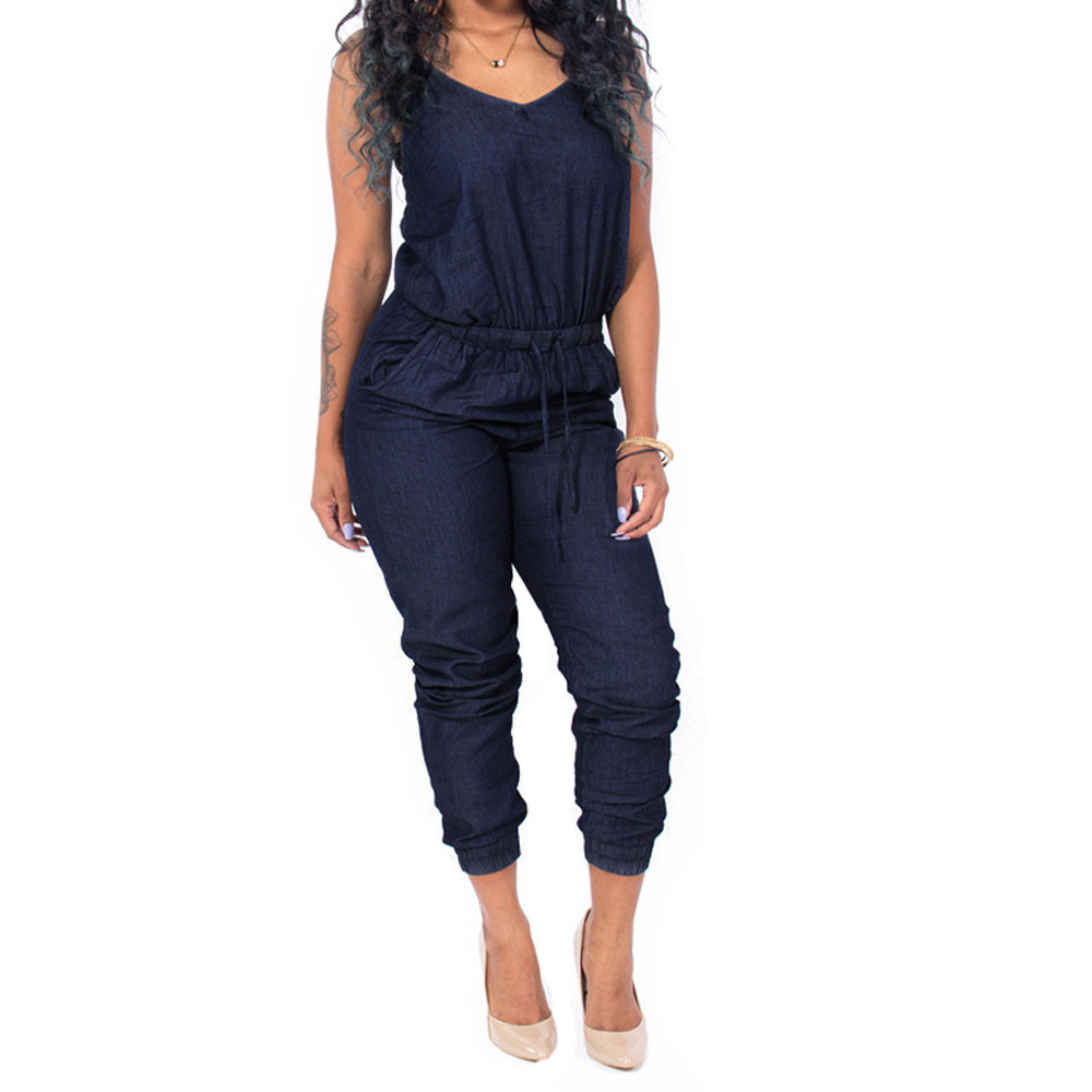 Online Buy Wholesale one piece denim jumpsuit from China one piece ...