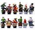 6 pcs Naruto figuras de ação bonecas jogo de Xadrez 2016 Novo PVC Anime Naruto uzumaki sasuke figuras para Decoração Gift Collection