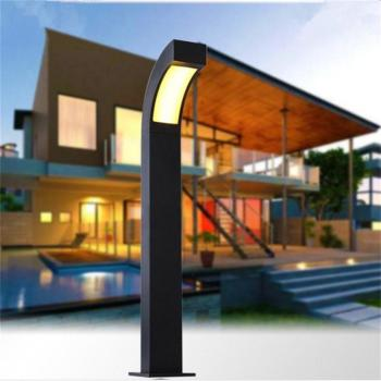 LED Outdoor Landscape Light Die Cast Aluminum European Garden Lawn Lamp Outdoor Patio Villa Lighting Modern Community Post Lamps bison rolling grill