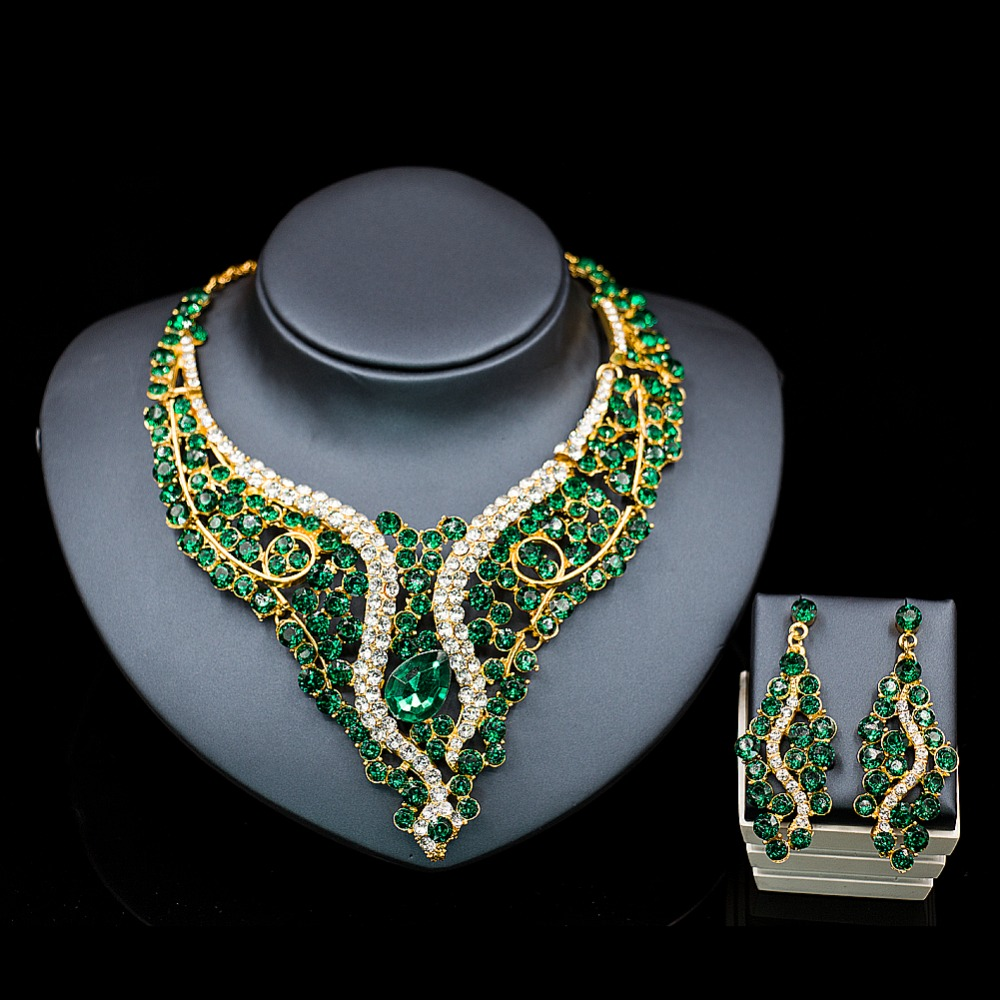 Lan Palace African Beads Jewelry Set For Wedding Nigerian Jewelry Set For  Women Necklace And Earrings