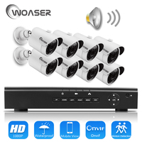 WOASER HD 48V 1080P HDMI P2P 4CH POE NVR Surveillance System Video Output 2 0MP IP