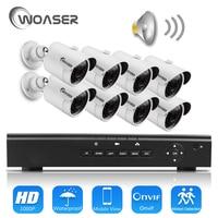 WOASER HD 48V 1080P HDMI P2P 4CH POE NVR Surveillance System Video Output 2 0MP IP