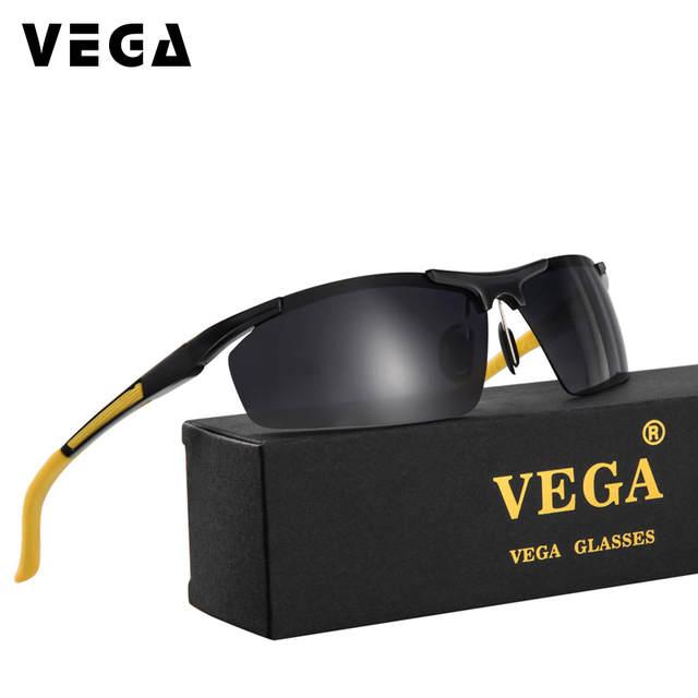 f5c0e6e6d7 Online Shop VEGA Best Polarized Sport Sunglasses For Biker Driver Police  Shooting Eyeglasses For Men Women Half Alloy Frame 8530