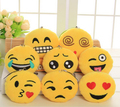Emoji mini plush keychain Creative stuffed plush toy round soft QQ emoticon expression cute small doll ornaments novelty gag toy