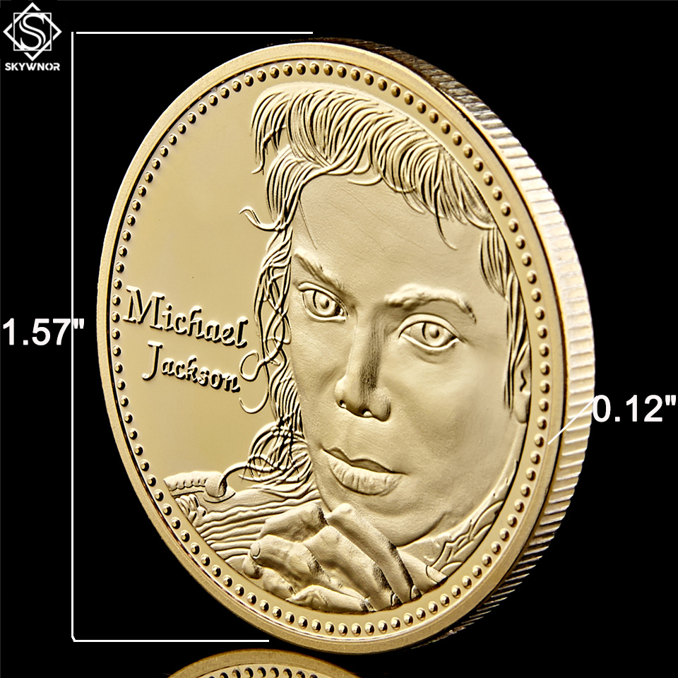 Collectibles Gold/Silver Coin USA Music Pop Super Star Michael Jackson With Capsule Protection