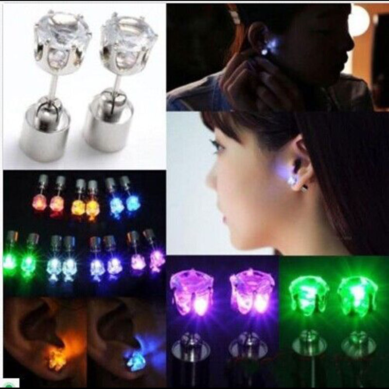 60pcs Unisex Led Light up Earrings Ear Studs Xmas Gift Party HOT NEW holiday light Dance Party Supplies mipow btl300 creative led light bluetooth aromatherapy flameless candle voice control lamp holiday party decoration gift