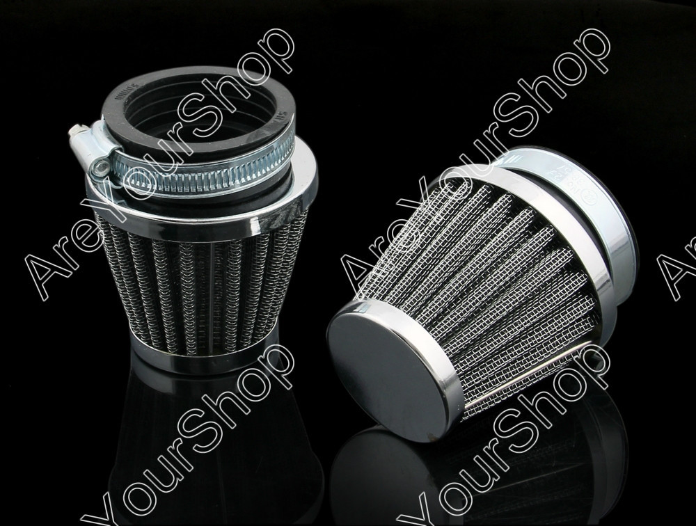 Areyourshop For Honda For Kawasaki KH400 For Suzuki TS185 For Yamaha RD250  For LIFAN GY125 Motorcycle Air Filter Intake 42mm-in Air Filters & Systems