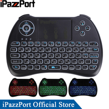 iPazzPort Russian Backlight Mini Wireless Keyboard Mouse for Android TV Box/Mini PC/Raspberry Pi/Tablets/Laptops