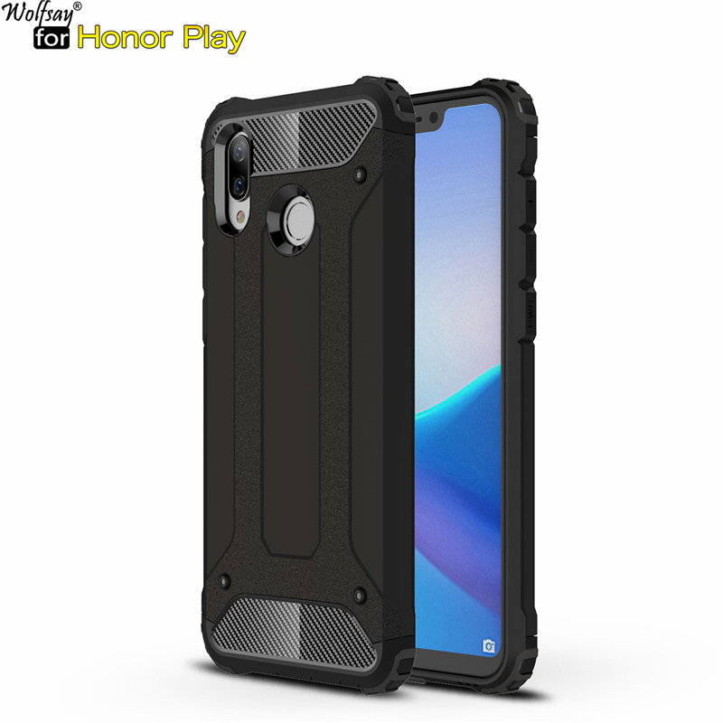 Honor Play Case Huawei Honor Play Cover Durable Armor TPU & PC Case For Huawei Honor Play Case COR-L29 Phone Fundas Wolfsay 6.3