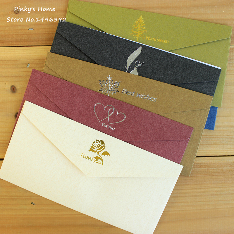 Cost Of Mailing Wedding Invitations: (10 Pieces/lot) Vintage Paper Envelopes Retro Classic