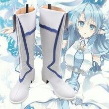 Nueva espada arte Online Cosplay Shoes Yuuki Asuna Anime del partido hecho a medida