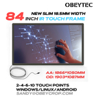 """Obeytec 84"""" Anti-sunshine Touch Screen, IR Touch Frame, 2 Touches Touch Frame, Plug and Play"""