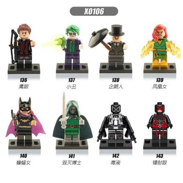 Única Venda de star wars super-heróis vingadores marvel Deadpool x-men building blocks define bricks modelo de ação brinquedos para as crianças X0106