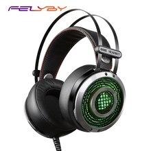 FELYBY K2S Elétrico Feixe Cabeça de Aço Inoxidável Retrátil Inteligente de Controle Online Gaming fone de Ouvido Do Computador