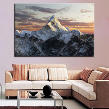 1 Piece Snow Mountains Pictures Living Room Wall Art Framework Canvas Paintings Home Decor HD Prints Sunset Landscape Poster
