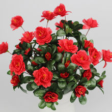 Artificial Flowers Red Rhododendron Wedding Party Home Decoration bonsai artificial flores para manualidades yapay cicek kakts(China)