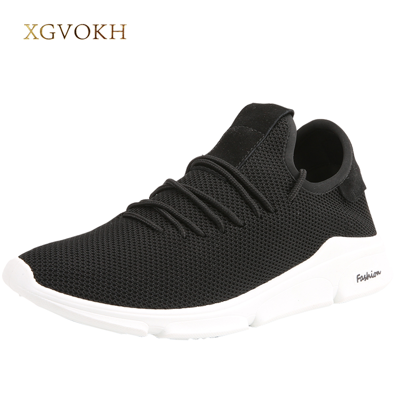 XGVOKH Mens shoes tenis masculino adulto sneakers chaussure homme breathable shoes men casual lace-up Spring autumn Flats