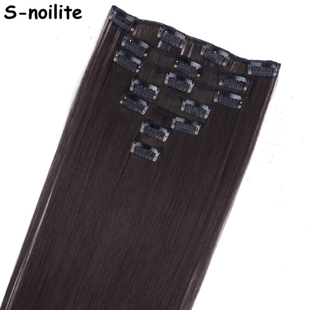 Aliexpress Buy S Noilite 7 Piece 22 Inches Long Clip In Hair