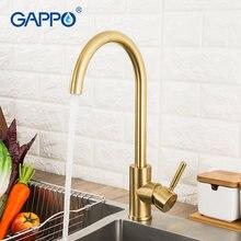 Gappo матовый золотой кухонный кран для раковины смеситель воды