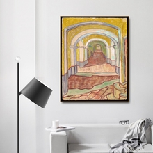 Corridor in the Asylum by Vincent Von Gogh Poster Print Canvas Painting Calligraphy Home Decor Wall Art Pictures for Living Room the asylum