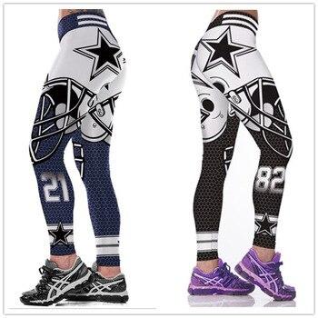 Lues House Unisex Cowboys 3D Printed Fitness Leggings