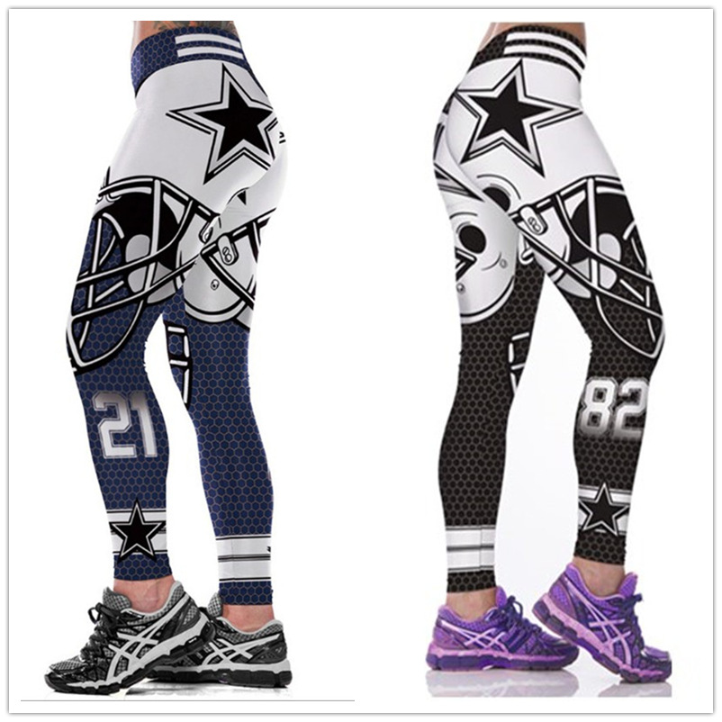 Unisex Cowboys Tights Pants 3D Printed Fitness Dallas Cosplay Leggings Tights Trousers MMA UFC BJJ Rashguard Pant Dropshipping image