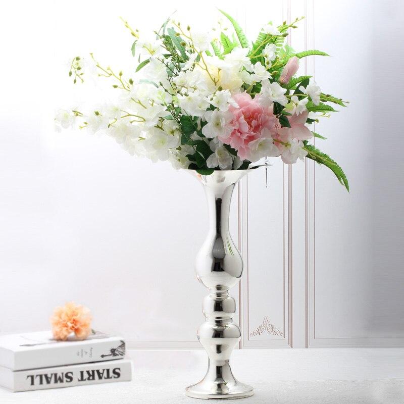 Floor vase flower silver big vase for wedding decoration Christmas decorations for home