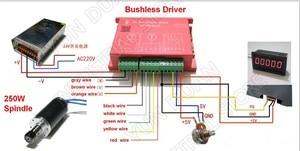 Image 2 - LD42WS 250w Электрический шпиндель/высокая скорость бесщеточный мотор шпинделя/pcb гравировальный станок шпинделя деревообрабатывающей бусинами бурения mac