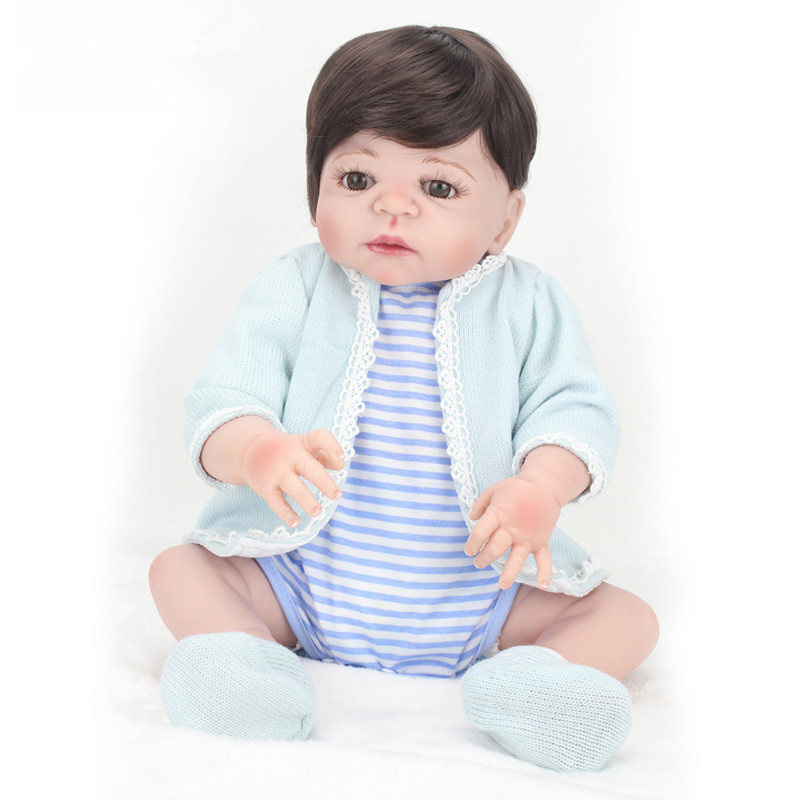 Silicone Reborn Dolls Realistic Supernatural Babies Toys for Children Lifelike Reborn Babies Birthday Gift Gender Boy Doll vostok 420892 восток
