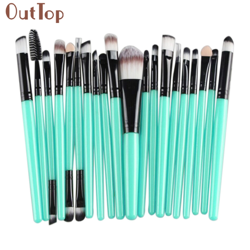 Pretty New Fashion Good Quality 20 pcs Women Makeup Brush Set tools Cosmetic Toiletry Kit Wool Foundation Brush Set Gift 1Set