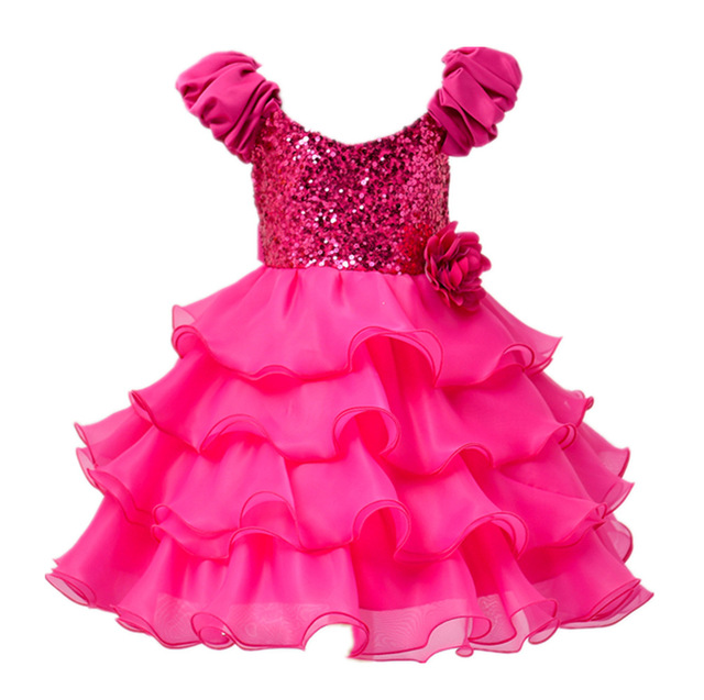 New girls dress beads cake dress children dress girls birthday