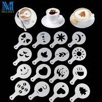 16 pçs/set Prinitng DIY Molde Plástico do copo de Café Modelo De Spray De Espuma de Café Cappuccino Café Decoração Stencil|template cappuccino|spray template|plastic coffee -