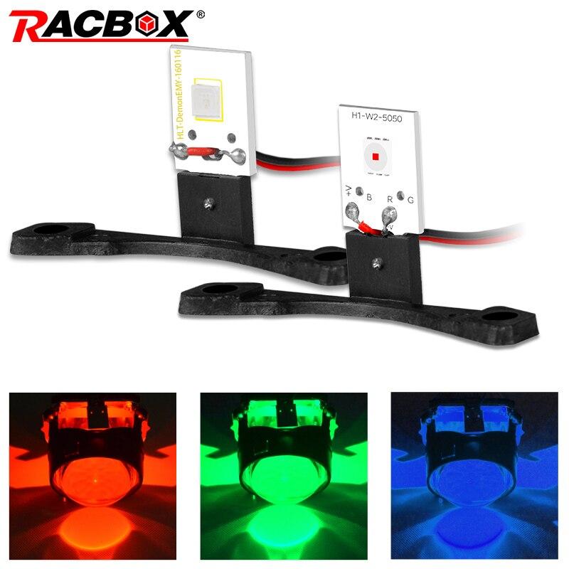 RACBOX LED Devil Eyes Demon Eye For Headlight Projector Lens DIY Red Blue Green DRL Car Retrofit Styling Free Shipping