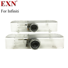 2 шт. любезно лампы стайлинга автомобилей Led двери автомобиля лазерный проектор с подсветкой Логотип Призрак Тень света для Infiniti JX серии QX56 qx60