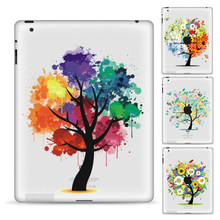 GOOYIYO-Tablet etiqueta parcial vinilo etiqueta colorida piel diseño Simple árbol impresión pintura para iPad Air Pro 9,7 Mini 12345 7,9(China)