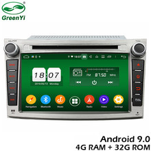 GreenYi 4G RAM Android 9.0 Car DVD For Subaru Legacy Outback 2009-2012 Octa Core 32G ROM Radio GPS Multimedia Player Head Unit(China)