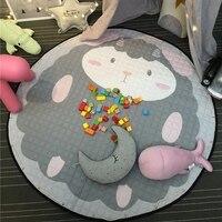 Portable Drawstring Kids Toys Storage Bag Round Baby Floor Play Mat Climbing Carpet Baby Children Toys Organizer Storage Bag