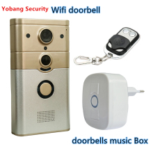 Yobang Security Freeship 720P WIFI Wireless Video Doorphone Camera  Motion Detection Alarm WIFI Doorbell for IOS Android Phone