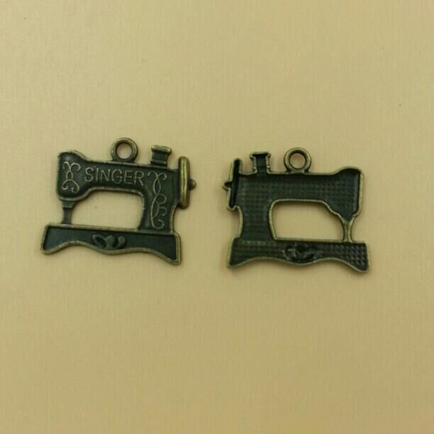 SEWING MACHINE Charms Pendants Vintage Bronze Charms Pendant Fine Charm Jewelry Making 16*20mm 60pcs/lot (T231) 2015 New image