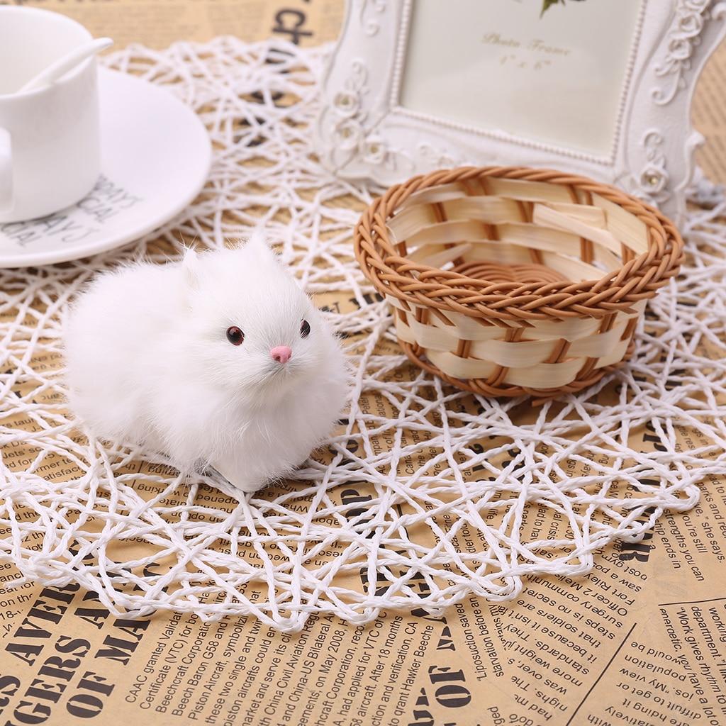 Plush Toy Mini Simulation Rabbit Hare Decor Kids Lovely Craft Birthday Gift-TwFi