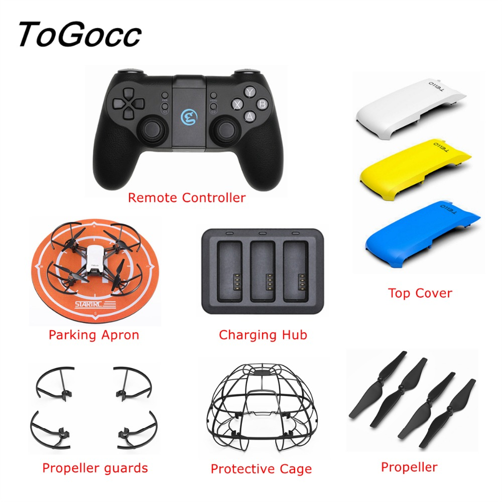 DJI TELLO Battery Charger Charging Remote Controller Cover Shell Propeller Guard Protective Cage Parking Apron Drone Accessories