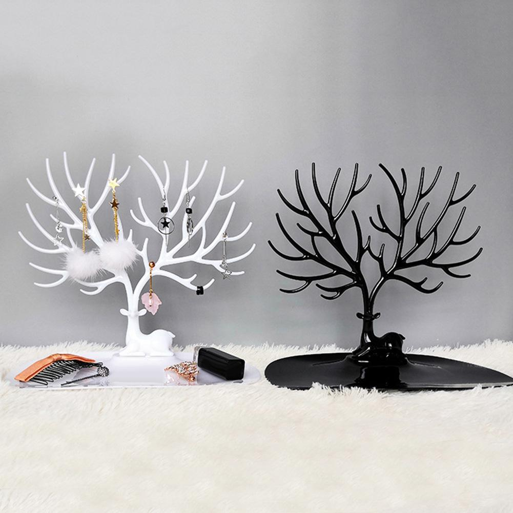 Jewelry Necklace Earrings Rings Deer Stand Display Organizer Holder Show Rack Creative Gift Tree Storage Jewelry Organizer
