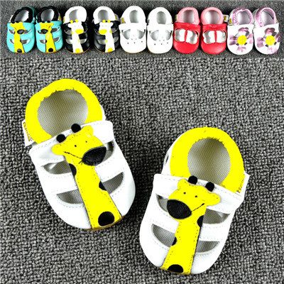 2016 New Style Genuine Leather Baby Moccasins Shoes Cute Animal Design First Walker Boys Girls Toddler baby soft sole shoes