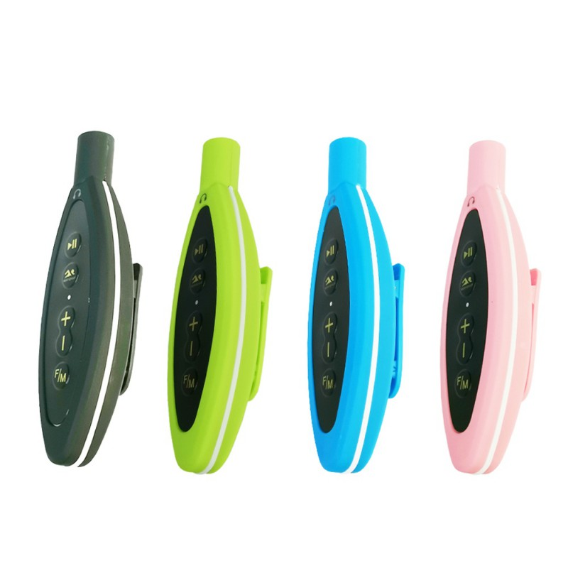 Multicolor Tragbare IPX8 Wasserdichte Mini <font><b>MP3</b></font> <font><b>Player</b></font> <font><b>Clip</b></font> FM Unterstützung Win XP/iOS Outdoor Sport Musik-<font><b>Player</b></font> image