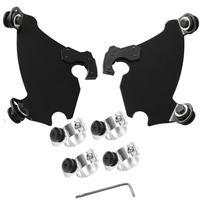 Gauntlet Fairing Black Trigger Lock Mount Kit For Harley Sportster XL1200 XLH XL