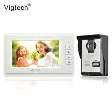 Vigtech 7 inch LCD Color Video door phone Intercom System Weatherproof Night Vision Camera Home Security