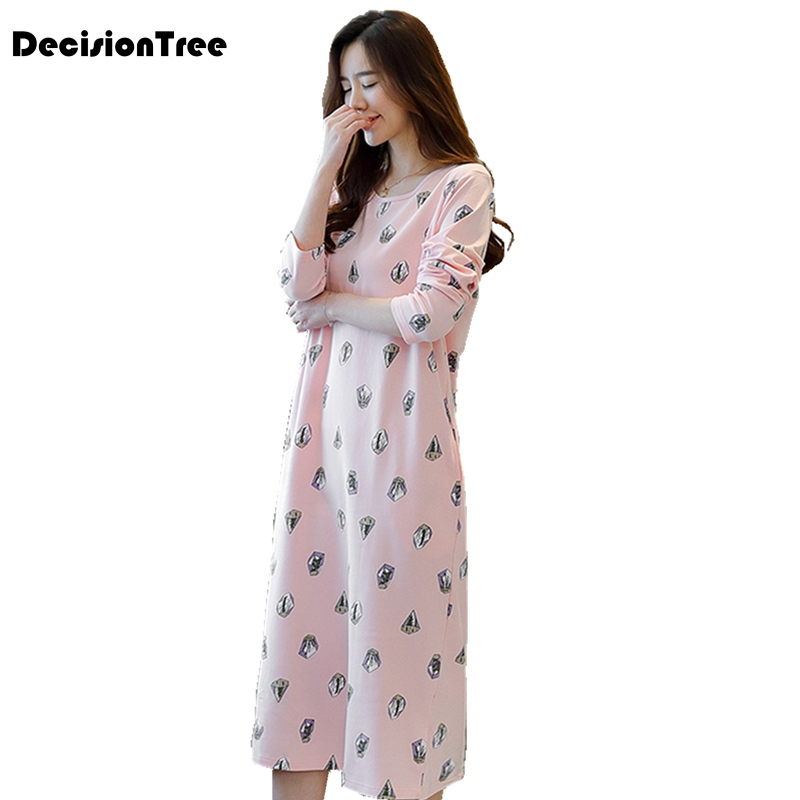 2019 new arrivals vintage   nightgowns     sleepshirts   elegant home dress lace sleepwear women sleep & lounge soft cotton   nightgown