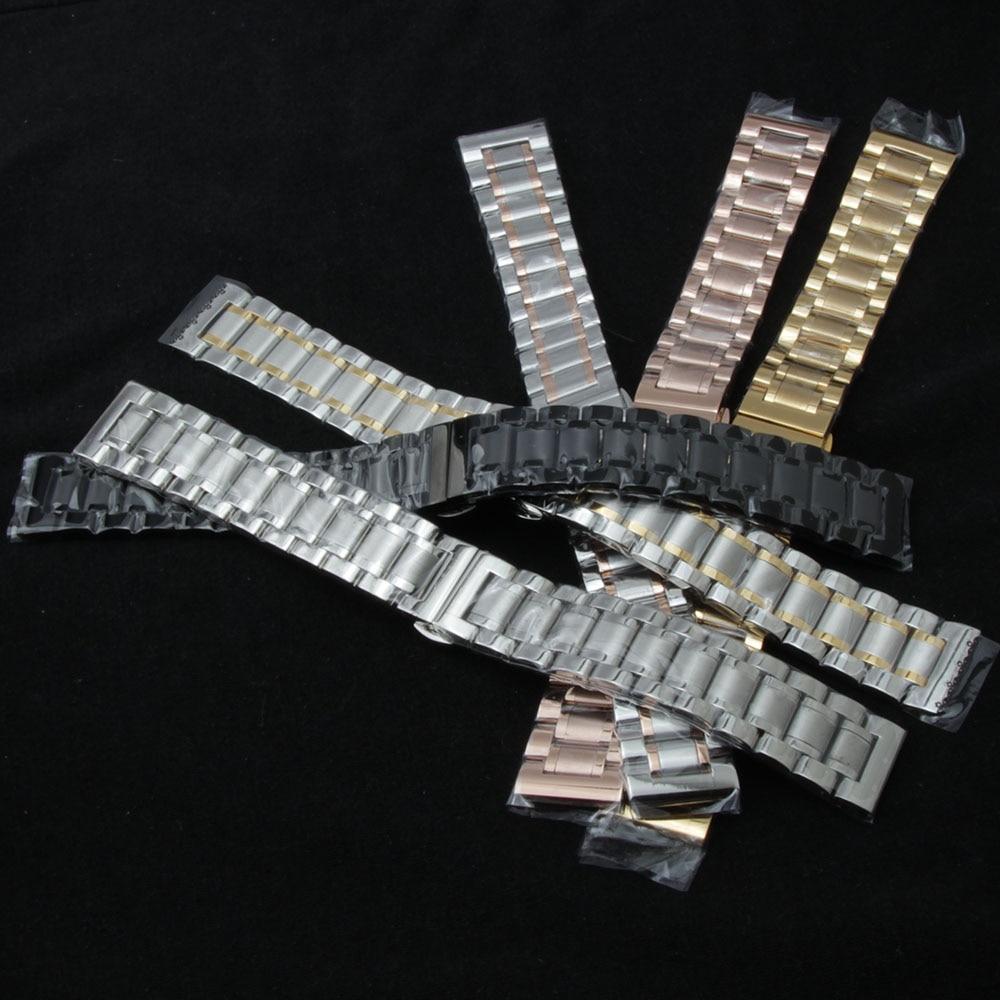 Stainless Steel Watchband Quick Release Strap for sport Men Women Watch Band Wrist Bracelet Black Gold Silver new 20mm 22mm 23mm cool oblong stainless steel bracelet for men silver