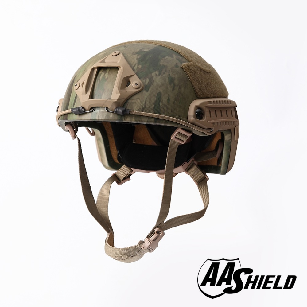 AA Shield Ballistic ACH High Cut Tactical TeijinHelmet Bulletproof FAST Aramid Safety NIJ Level IIIA Military Army A-TACS-FG
