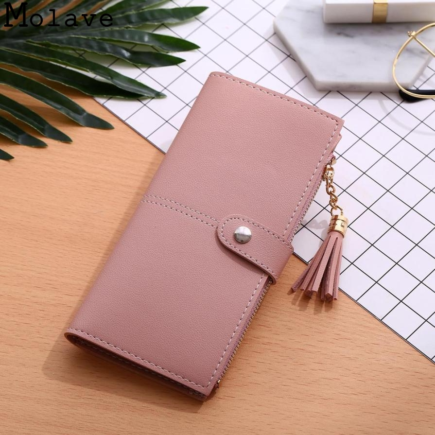 Women Simple Long Wallet Tassel Coin Purse Card Holders Handbag Female Card Holder Casual Tote Crocodile Clutch June0626 simple organizer wallet women long design thin purse female coin keeper card holder phone pocket money bag bolsas portefeuille